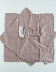 GOTS certified baby cuddle cloth comforter mauve