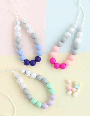 beautiful silicone necklace for girls