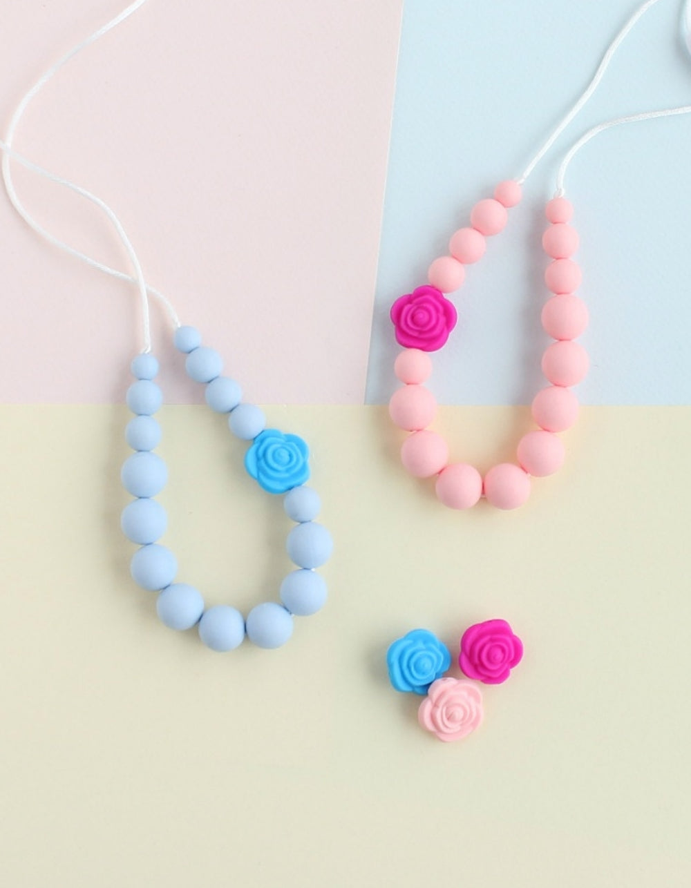 bright silicone necklace for girls