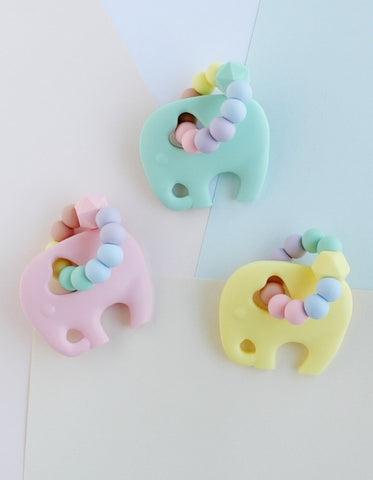 silicone teething toys elephant