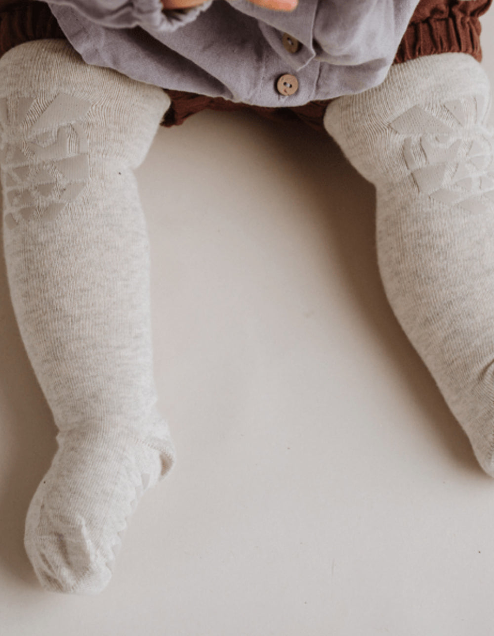 baby crawling tights grey owls