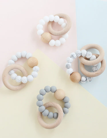 scandinavian baby silicone teether