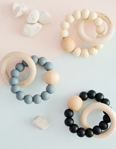 ari neutral silicone teething toy for babies