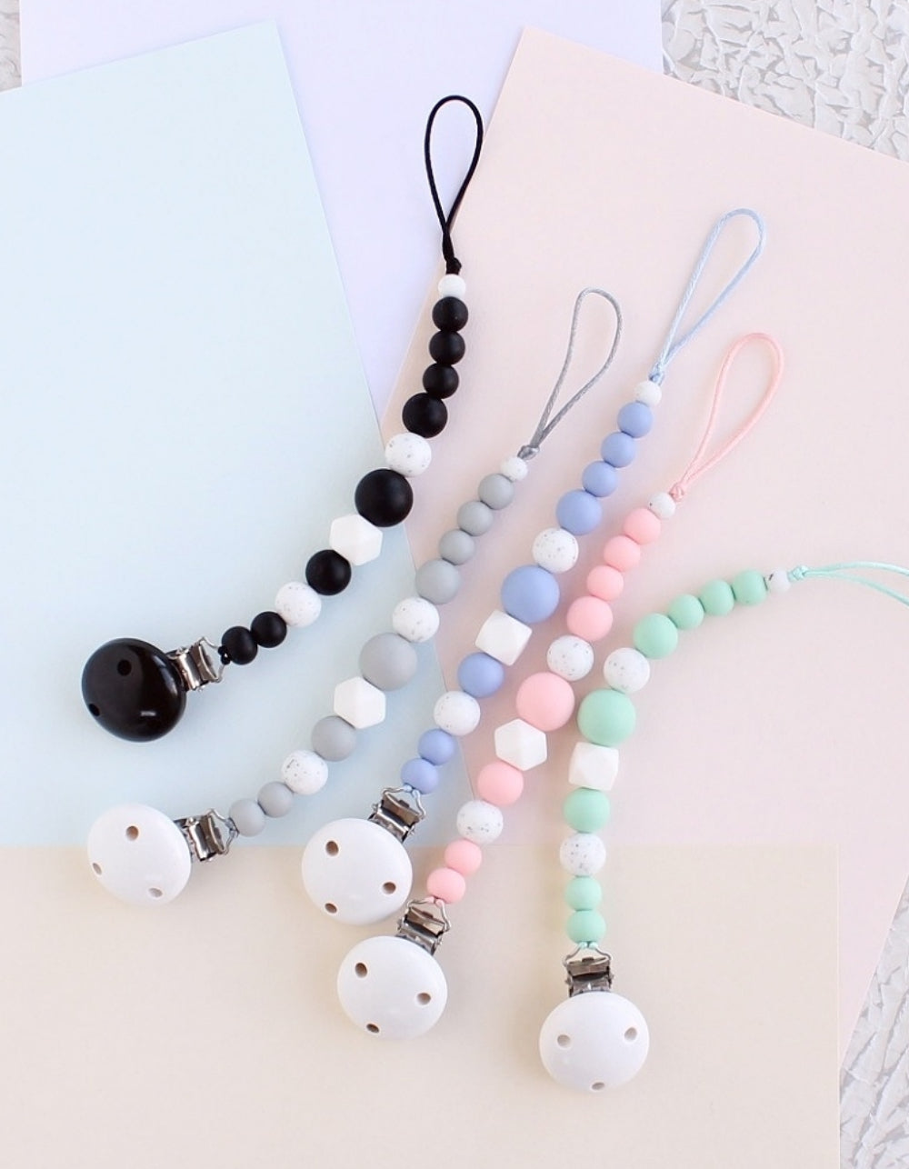 silicone pacifier clip for TOOTH teething toy