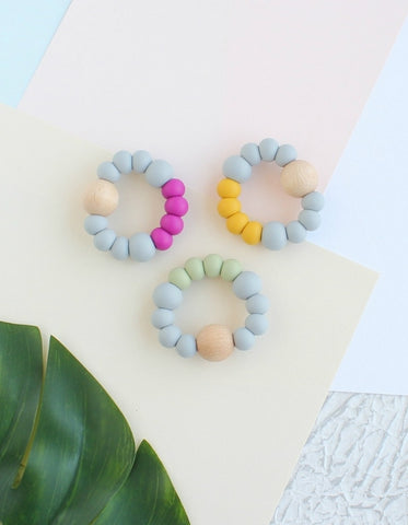 silicone teething toy eden scandi