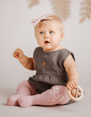 baby crawling tights pink butterfly