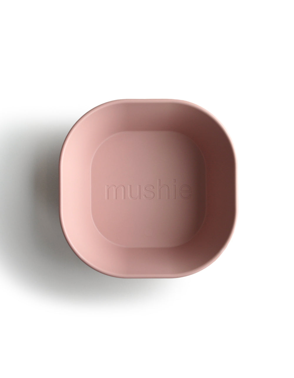 mushie square dinnerware bowl blush