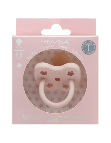 HEVEA natural rubber orthodontic pacifier 0-3 months powder pink color