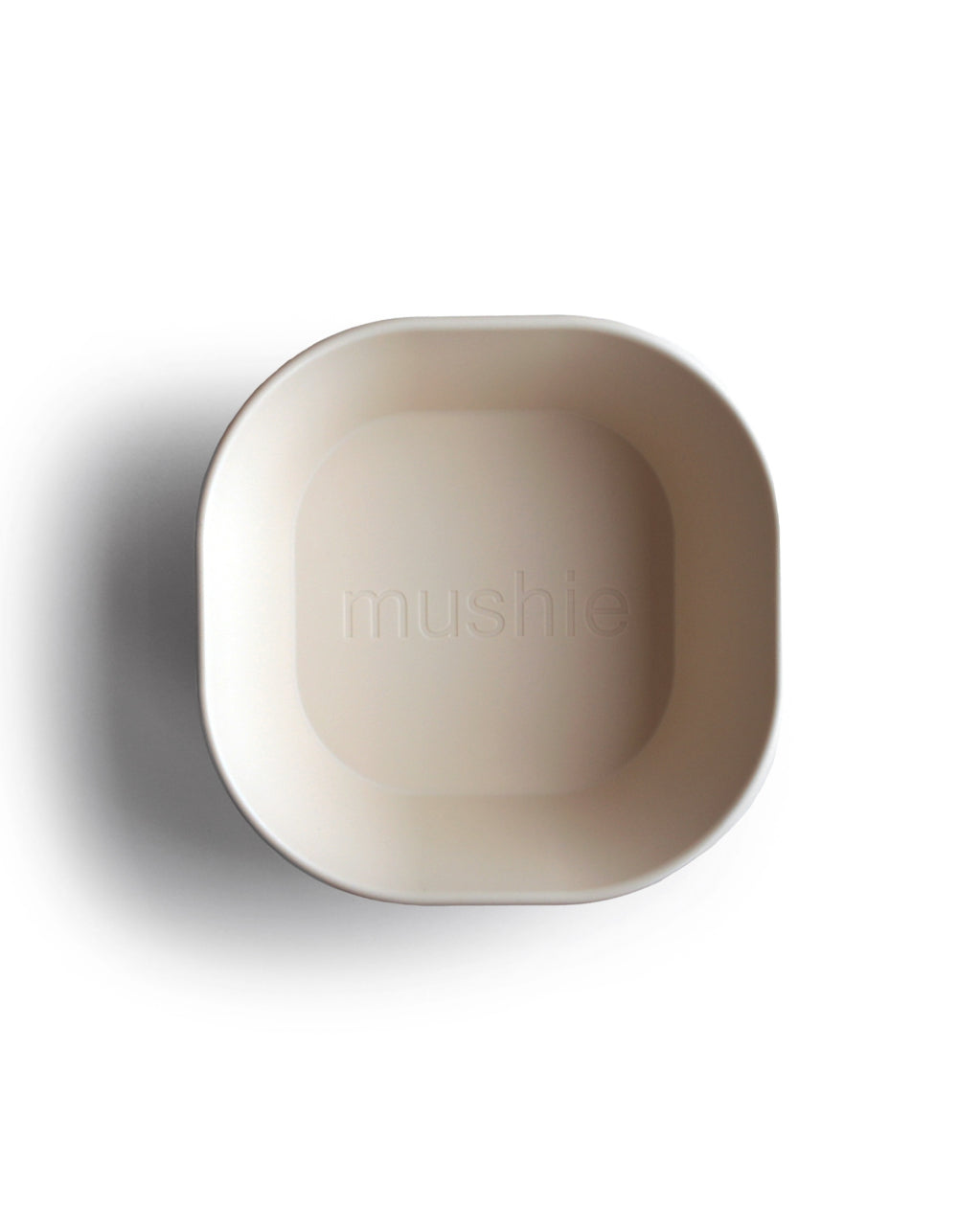 mushie square dinnerware bowl ivory