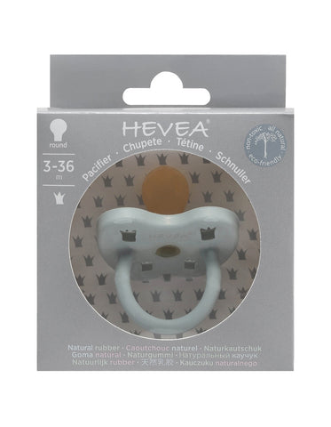 HEVEA natural rubber orthodontic pacifier 3-36 months gorgeous grey color