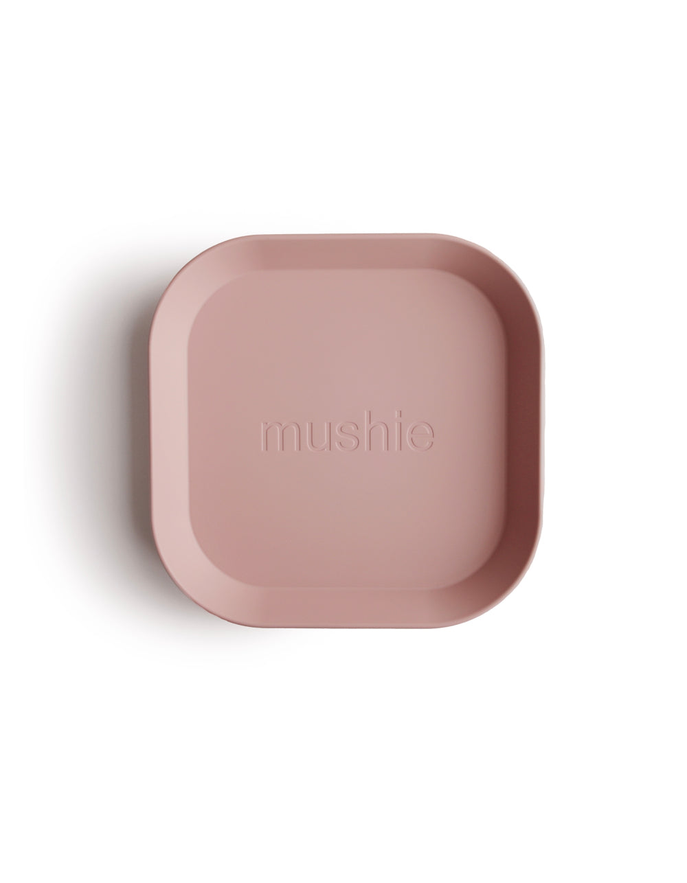 mushie square dinnerware plate blush