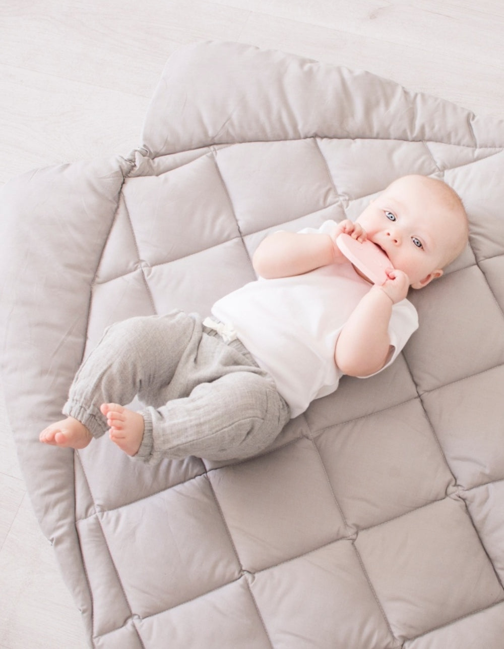 light grey baby nursery play mat