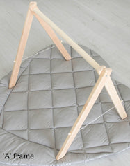collapsible wooden baby gym frame 'A frame'