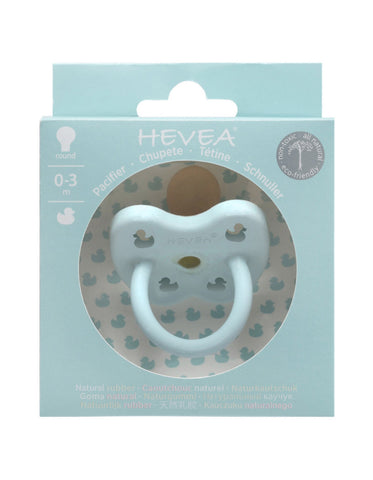 Natural HEVEA round pacifier 0-3 month baby blue