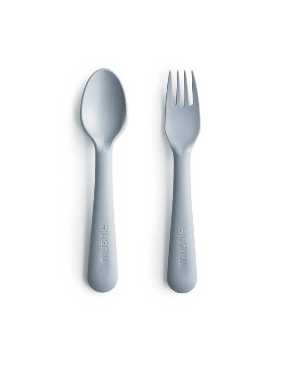 mushie fork and spoon set cloud