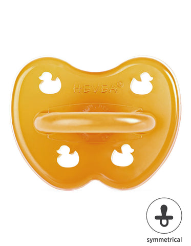 HEVEA natural rubber symmetrical pacifier 0-3 months