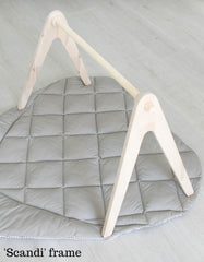 Scandi wooden baby gym frame