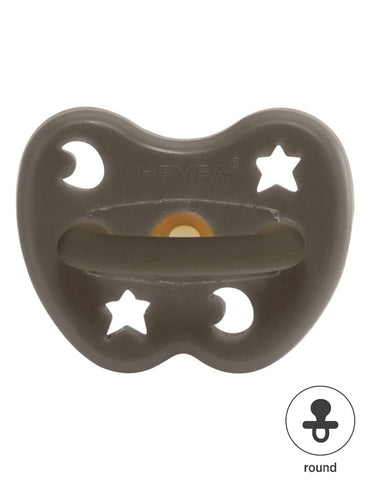 Natural HEVEA round pacifier 3-36 month shiitake grey