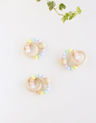 pastel silicone baby teether