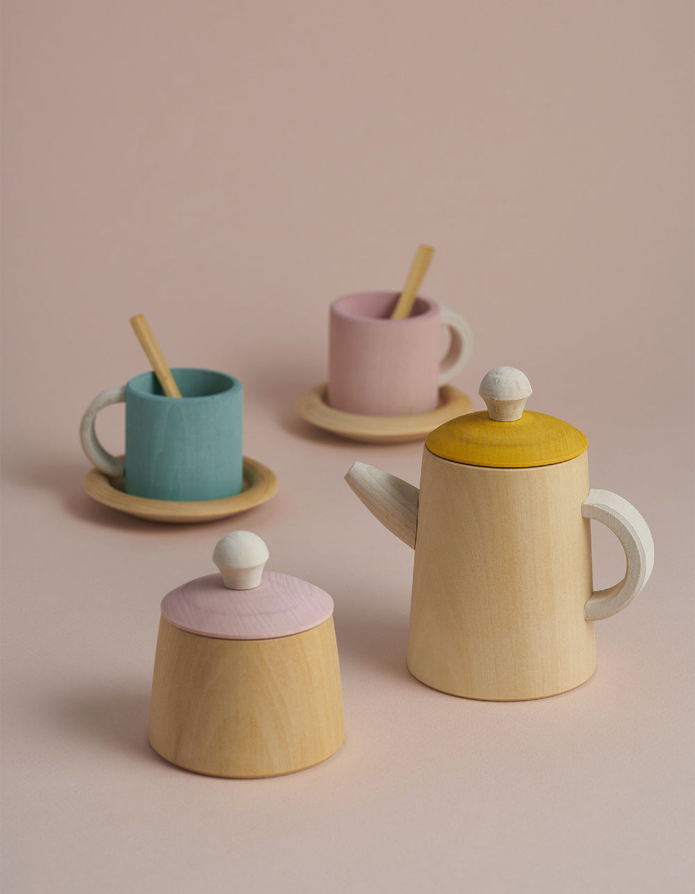 Raduga Grez Tea set pink and mustard
