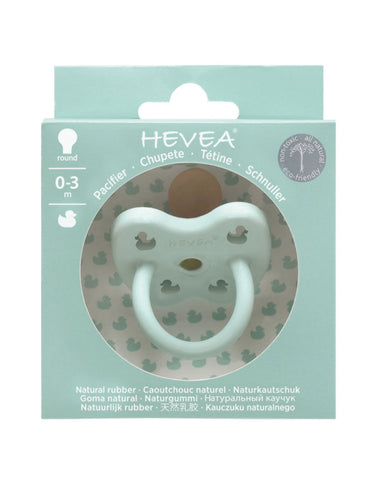 Natural HEVEA round pacifier 0-3 month mellow mint