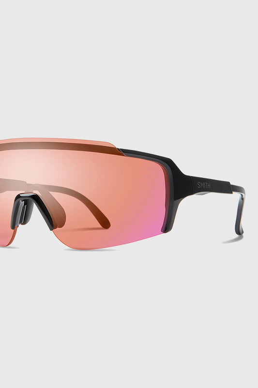 Smith Flywheel Glasses Black Contact Rose Flash