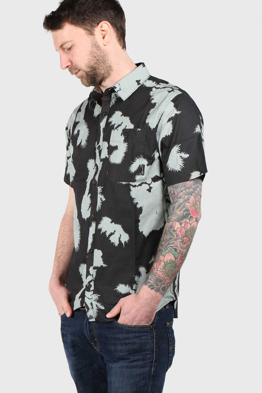 Fox Greenhorn Woven Short Sleeve Shirt - Black Vintage