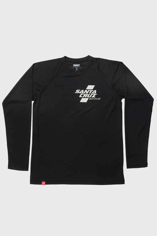 Santa Cruz Parallel Tech Tee LS Jersey - Black and Fog