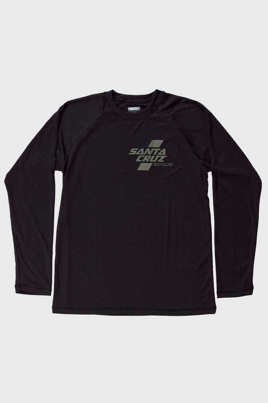 Santa Cruz Parallel Tech Tee LS Jersey - Black and Olive