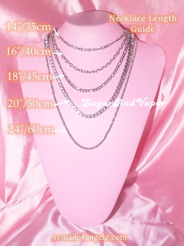 SugarAndVapor Necklace Length Guide