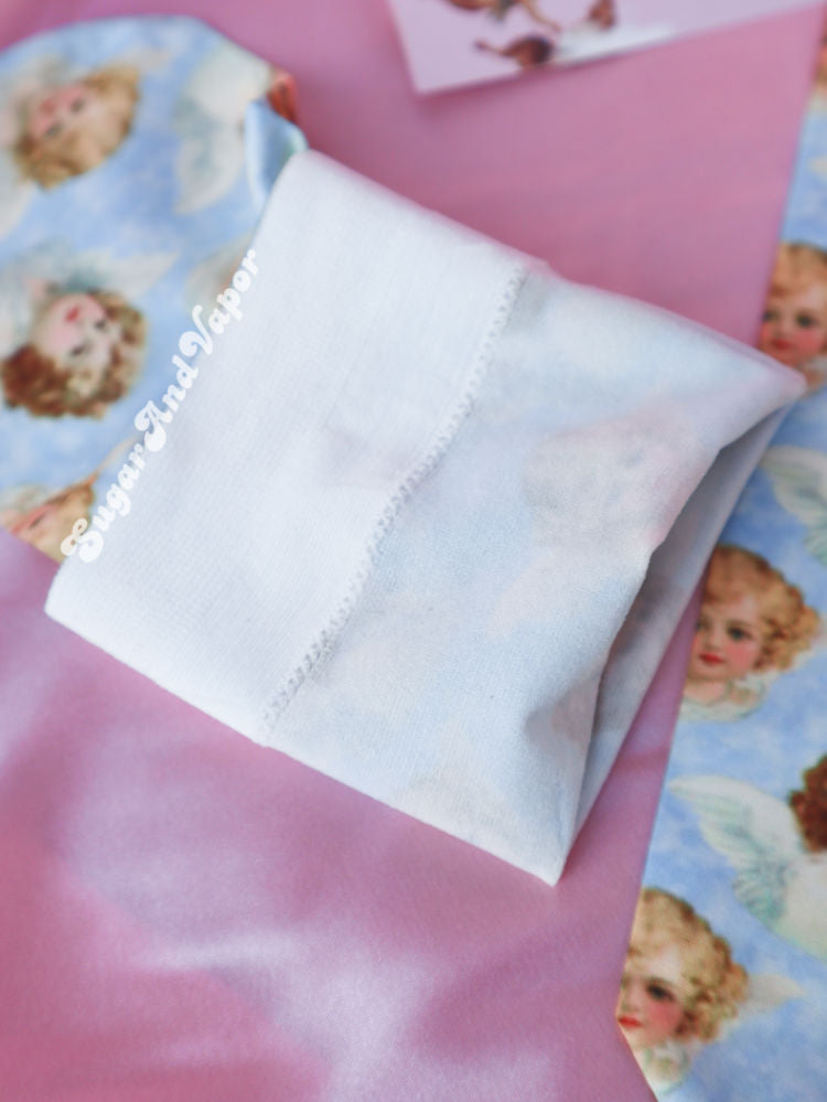Retro Cherubs Print Summer Socks-SOCKS&TIGHTS-SugarAndVapor