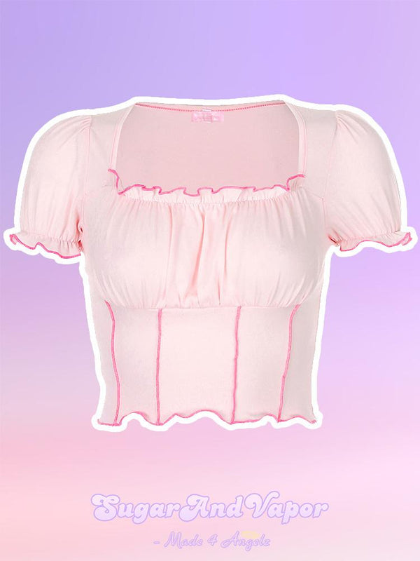 Charlotte Princess Crop Top-TOPS-SugarAndVapor