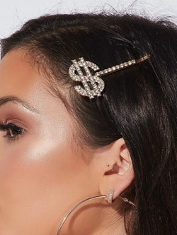 Dollars $ Rhinestone Hair Pin-Hair Accessories-SugarAndVapor