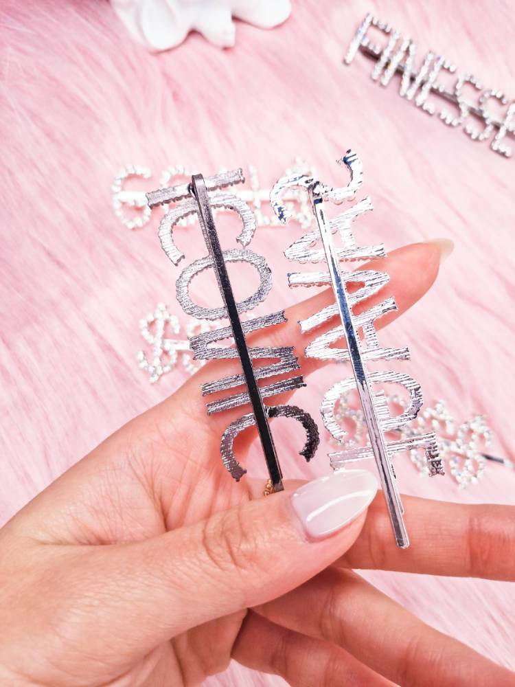 FINESSE ICONIC SAVAGE BO$$ Rhinestone Hair Pins-Hair Accessories-SugarAndVapor