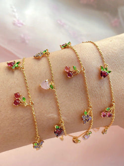 KATY Fruits Vibes Multi Bling Charms Bracelet-Bracelets-SugarAndVapor