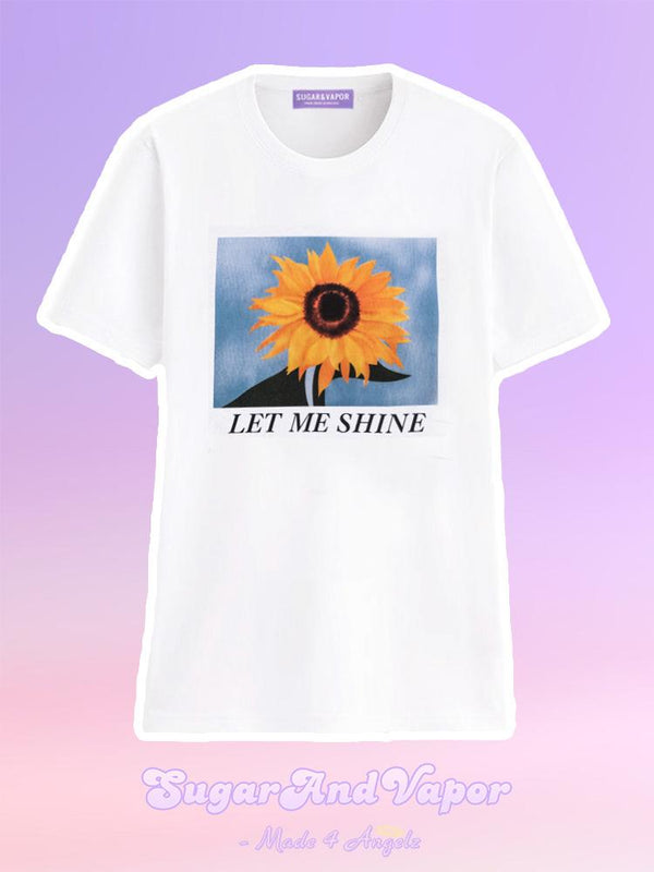 Let Me Shine Sunflower Graphic T-shirt-TOPS-SugarAndVapor