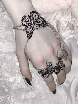 EVIE Butterfly Ring Chains Bracelet-Bracelets-SugarAndVapor