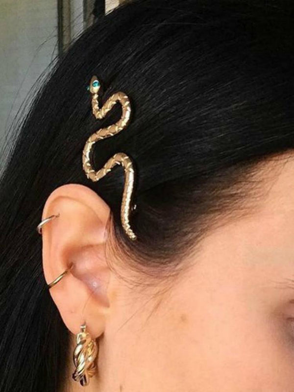 Gold/Silver Snake Hair Clips-Hair Accessories-SugarAndVapor
