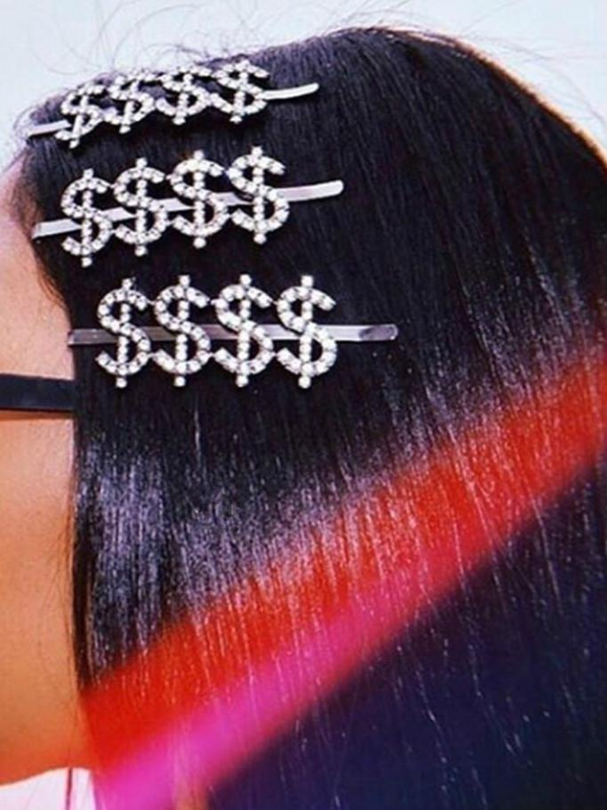 SAVAGE BO$$ Rhinestone Letters Hair Pin-Hair Accessories-SugarAndVapor