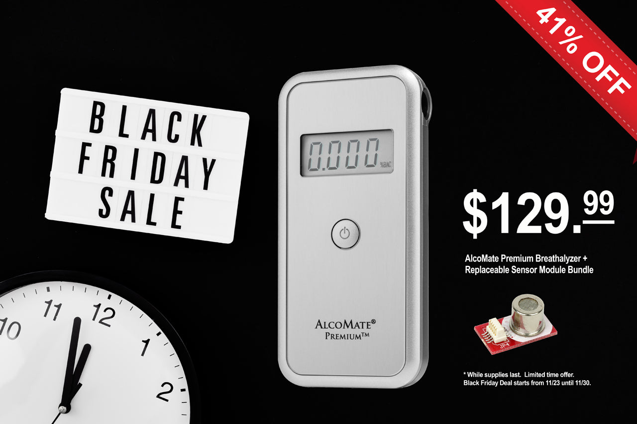Black Friday Deal: AlcoMate Premium Professional Breathalyzer Basic Kit and AlcoMate Sensor Module SM7000 bundle deal - AK GlobalTech Corporation