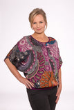 Athens cross front nursing top - Bellydance