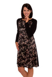Piccadilly Silk Birds Breastfeeding Dress - Black