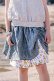 Bella Skirt Yellow Grey Floral