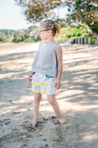 Harper Shorts Sunshine and Sky Floral