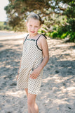Georgie Dress Black Spot on Natural