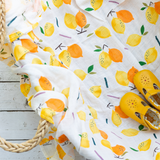 Organic Cotton/Bamboo fiber Extra Large Swaddles - Lemons