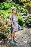 Freya Shift Dress with tie - Pink Blooms