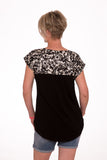 Sandy Bay Loose fit breastfeeding Stylie tee - Daisy Sillouette