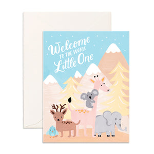 Fox and Fallow Welcome Little one card