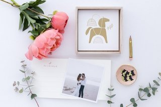 Laikonik Memory Book / Photo Journal - Gold Horse